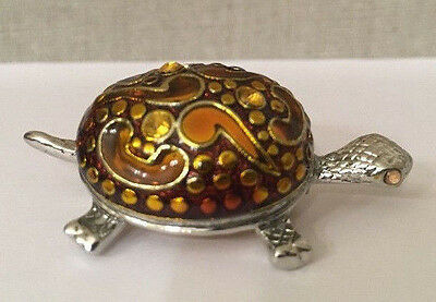 Iona Turtle with yellow eyes Pin/Brooch