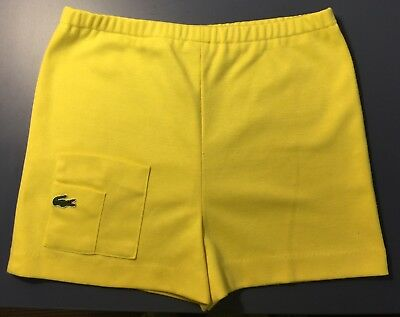 Vintage 60s or 70s Haymaker Lacoste Cute Yellow Tennis Shorts (modern Small)