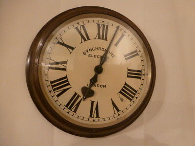 old large Syncronome electric wall clock