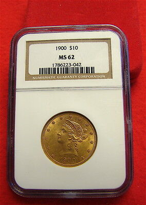1900 $10 Liberty Head Gold Eagle---NGC MS-62-----Nice Coin