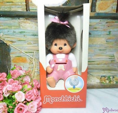 Sekiguchi Monchhichi Plastic Money Savings Coin Bank Pink Girl ~~ NEW ARRIVAL ~~