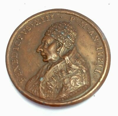 1725 Italy, Papal, Benedict XIII Medal. Castcopy 1800s. 44mm.