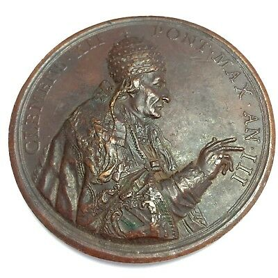 1733 Italy, Papal. Clement XII Medal. Castcopy 1800s. 72 mm