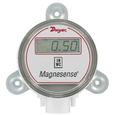 """Dwyer MS-021-LCD Magnesense Transmitter, ±0.1"""", 0.25"""", 0.5"""" w.c. with Display"""