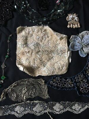 Selection of Antique Beaded Embellishments