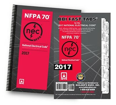 NFPA 70 2017 Edition : National Electrical Code (NEC) Spiralbound with Fast Tabs
