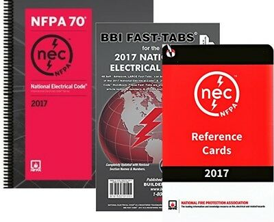 NFPA 70 2017 : NEC Code, Spiralbound, Fast Tabs & Reference Cards, 2017 Editions