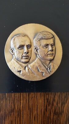 John F. Kennedy And Postmaster General J. Edward Day Bronze Medal 50Mm