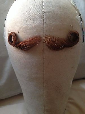 Brown/Ginger Hand Knotted Fine Lace Human Hair Moustache Postiche TV/ Film