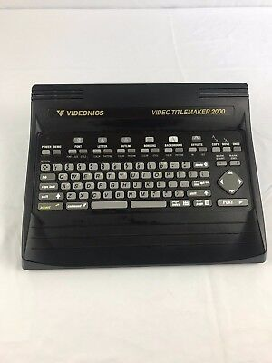 Videonics Titlemaker 2000 - Tested and Works Great!