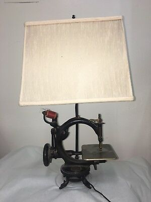 Antique 1800s Willcox Gibbs Sewing Machine Converted To Lamp