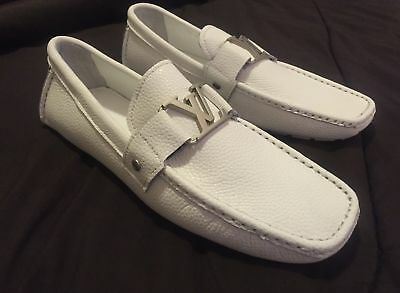 White Louis Vuitton shoes loafers - size 11