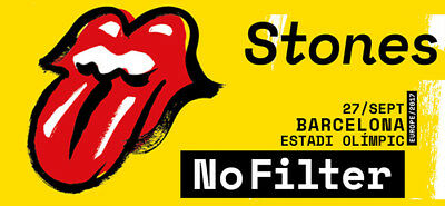 The Rolling Stones - No Filter Tour - Barcelona - 09-27-2017 - Verified Tickets