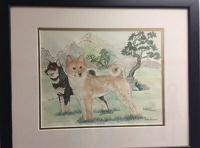 Shiba Inu Limited Edition signed, numbered and framed print Beth Hickman