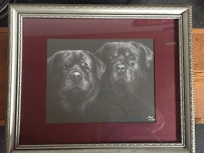 Rottweiler signed, numbered and framed limited edition Pidney print