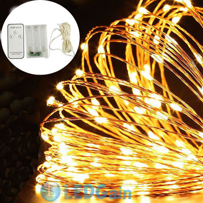 10M 100 LED Flexible USB Copper Wire Fairy String Light With Remote Control USA