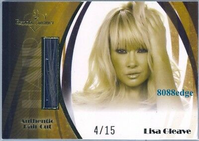 2010 Benchwarmer Signature Blonde Hair Cut #hc3: Lisa Gleave #4/15 Dna Aussie