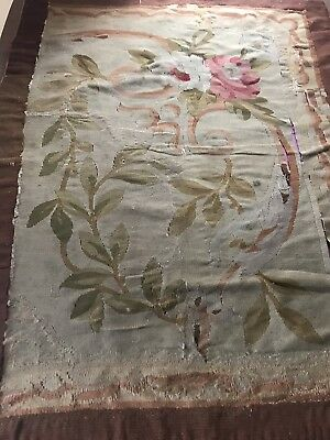 """18TH CENTURY FRENCH AUBUSSON TAPESTRY FRAGMENT 32x40"""""""
