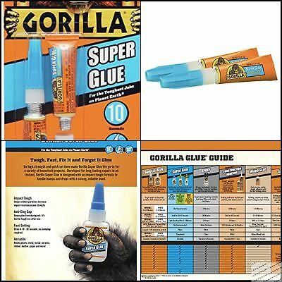 Gorilla Instant Super Glue 6 g Bonds Plastic Wood Metal Ceramic Rubber Leather