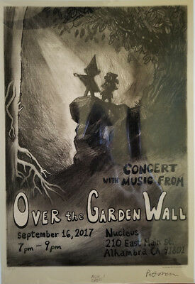 Over The Garden Wall Concert Poster Variant! Limited to 50, 2x signature!