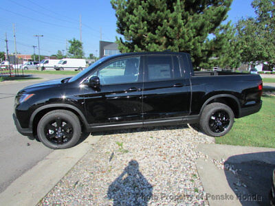 2018 Honda Ridgeline Black Edition AWD Black Edition AWD New 4 dr Crew Cab Truck Automatic Gasoline 3.5L V6 Cyl Crystal