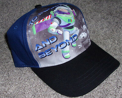 Toy Story Buzz Lightyear To Infinity and Beyond Kids Velcro HAT CAP OSFM YOUTH