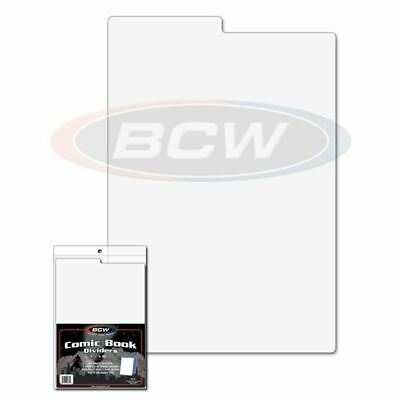 "Pack of 25 COMIC BOOK DIVIDERS 7 1/4"" x 10 3/4"" 24 White + 1 Index BCW NEW"
