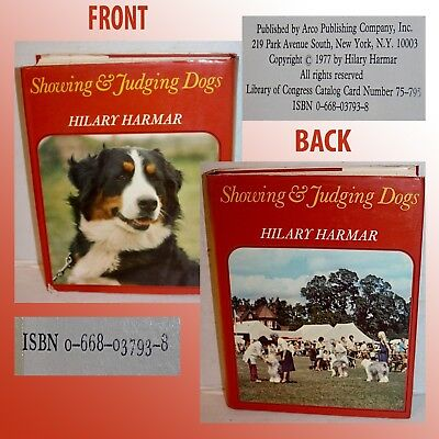 Showing & Judging Dogs Book By Hilary Harmar W/ Dust Jacket
