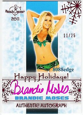 2011 Benchwarmer Holiday Auto: Brandie Moses #11/25 Autograph Happy New Year Set
