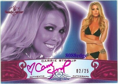 2010 Benchwarmer Pink Auto #11A: Carrie Stroup #2/25 Signature Series Autograph