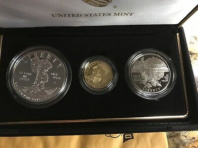 2016 US 100th Anniversary National Park Service 3-Coin Proof Commemorative Set