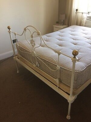 Victorian Cast Iron Double Bed with supporting base inc mattress by Heritage bed