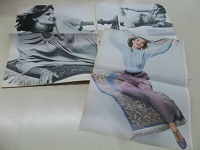 Cheryl Tiegs big lot of  supermodel   clippings #MC68