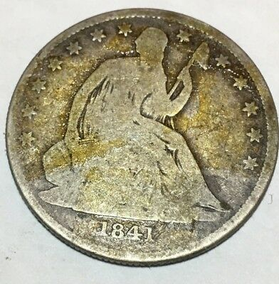1841-O SEATED LIBERTY HALF DOLLAR - small 400,000 Mintage - no arrows-90% SILVER