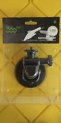 "360fly - Quick Twist Suction Cup Mount 1/4""-20 - 360 Action Camera - Black"