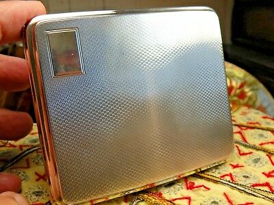 Rare British JHW Sterling Silver CIGARETTE Card CASE, Flawless Condition