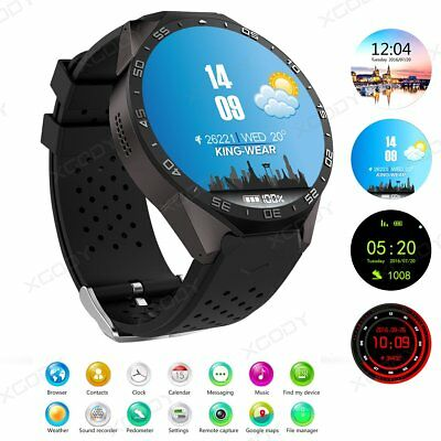 3G Bluetooth Smart Watch GPS WIFI Android Phone SIM 4GB For Samsung iPhone iOS