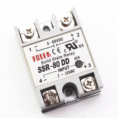 10Pcs SSR-80DD Manufacturer 80A solid state relay ,input 3-32VDC output 5-60VDC