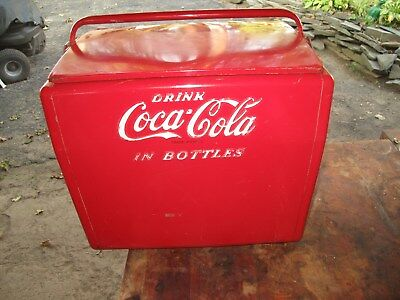 Original 1950's Cavalier Coke Cola Cooler With Tray & Bottle Opener