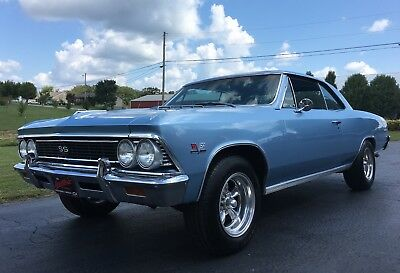 1966 Chevrolet Chevelle Super Sport 1966 Chevelle SS! Vin# 138...454 built to 427 Engine! Auto Trans! Blue on Blue!