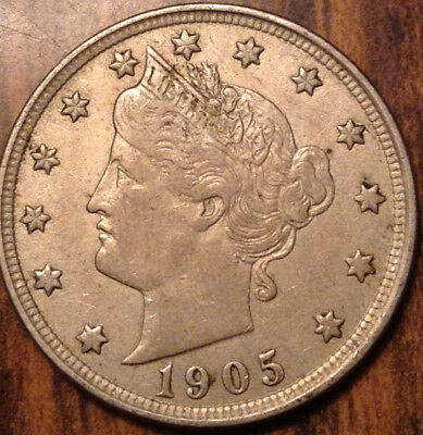 1905 Usa 5 Cents Liberty In High Grade !!
