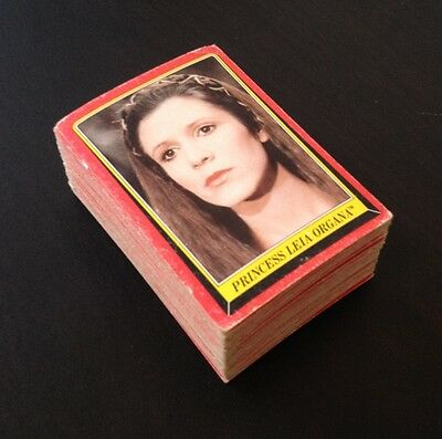 """1983 Scanlens """"Return of the Jedi"""" - 76/132 Cards - Very Good Condition"""