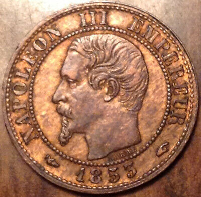1853-A France 1 Centime In Excellent Condition