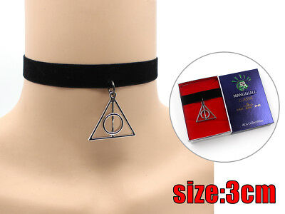 Harry Potter Deathly Hallows Neck Collar Puddin Necklace CHOKER