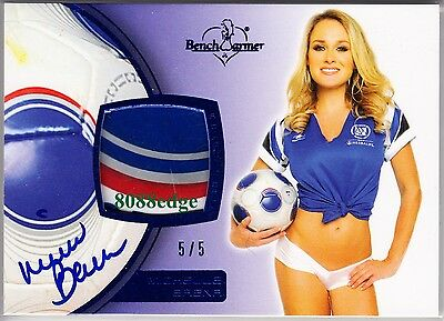 2012 Benchwarmer Soccer Ball Auto: Michelle Baena #5/5 Swatch Autograph Playboy