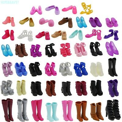 Shoes Boots High Heel Flats Foot Winter Clothes Accessories For Barbie Doll Gift