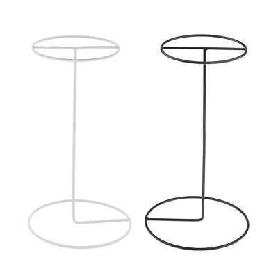 Stainless Steel Clothing Store Metal Hat Wigs Display Stand Props Caps Rack