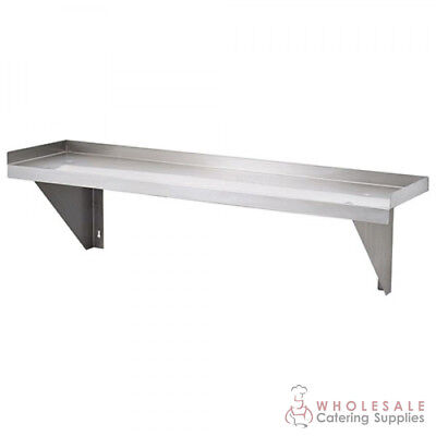 Solid Wall Shelf 2300x300mm Stainless Steel Kitchen Storage Simply Stainless NEW