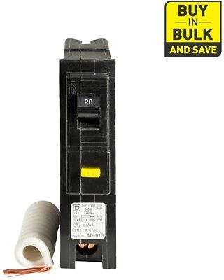 Circuit Breaker 20-Amp 1-Pole Ground Fault Single Phase Plug-On 1 Inch 1 Pack