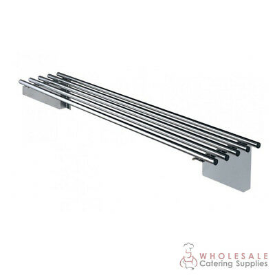 Pipe Wall Shelf 2400x300mm Stainless Steel Kitchen Storage Simply Stainless NEW